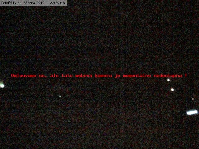Webkamera na Dolní stanici lanovky - levý pohled