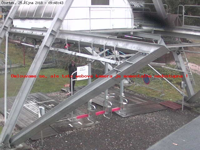 webkamera na horn� stanici lanovky